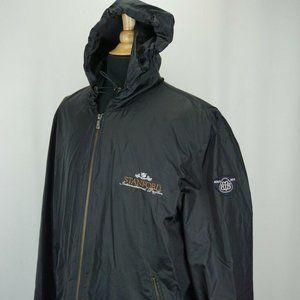 Brooks Brothers Black Hooded Lightweight Jacket